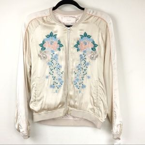 NWOT Blank NYC Embroidered bomber jacket
